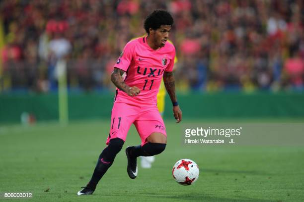 Leandro of Kashima Antlers in action during the JLeague J1 match between Kashiwa Reysol and Kashima Antlers at Hitachi Kashiwa Soccer Stadium on July...