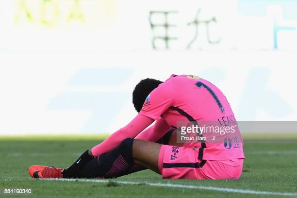 Leandro of Kashima Antlers reacts during the JLeague J1 match between Jubilo Iwata and Kashima Antlers at Yamaha Stadium on December 2 2017 in Iwata...