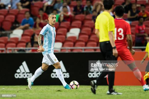 Leandro Paredes of Argentina in action during the International Test match between Argentina and Singapore at National Stadium on June 13 2017 in...