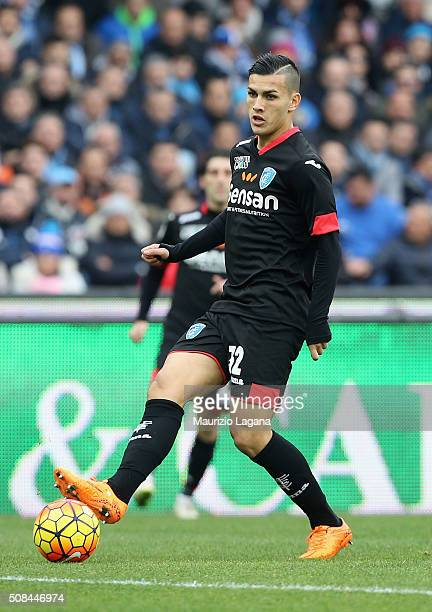 Leandro Paredes of Empoli during the Serie A match between SSC Napoli and Empoli FC at Stadio San Paolo on January 31 2016 in Naples Italy