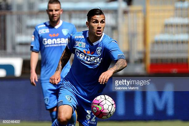 Leandro Paredes of Empoli FC in action during the Serie A match between Empoli FC and ACF Fiorentina at Stadio Carlo Castellani on April 10 2016 in...