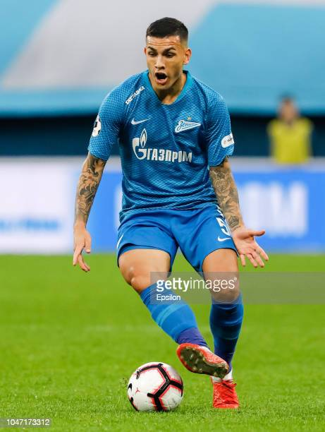 Leandro Paredes of FC Zenit Saint Petersburg in actions during the Russian Premier League match between FC Zenit Saint Petersburg and FC Krasnodar on...