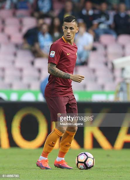 Leandro Paredes of Roma during the Serie A match between SSC Napoli and AS Roma at Stadio San Paolo on October 15 2016 in Naples Italy