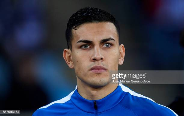Leandro Paredes of Zenit St Petersburg looks on prior to the start the UEFA Europa League group L football match between Real Sociedad de Futbol and...