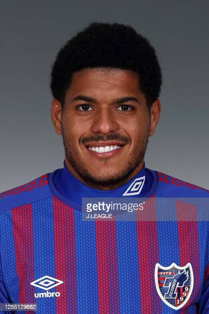 Leandro poses for photographs during the FC Tokyo portrait session on January 8, 2020 in Japan.