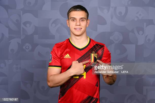 Leandro Trossard of Belgium poses during the official UEFA Euro 2020 media access day on June 08, 2021 in Tubize, Belgium.