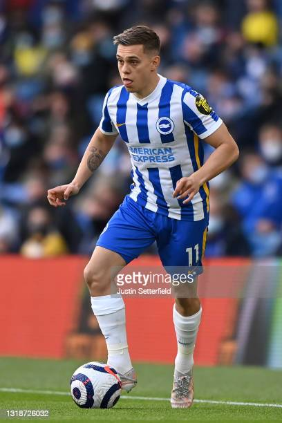 Leandro Trossard of Brighton & Hove Albion during the Premier League match between Brighton & Hove Albion and Manchester City at American Express...