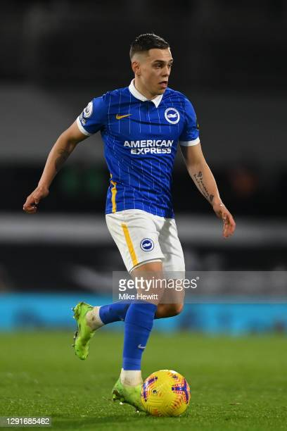 Leandro Trossard of Brighton & Hove Albion in action during the Premier League match between Fulham and Brighton & Hove Albion at Craven Cottage on...