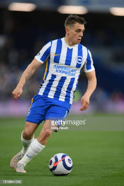 Leandro Trossard of Brighton & Hove Albion in action during the Premier League match between Brighton & Hove Albion and Manchester City at American...