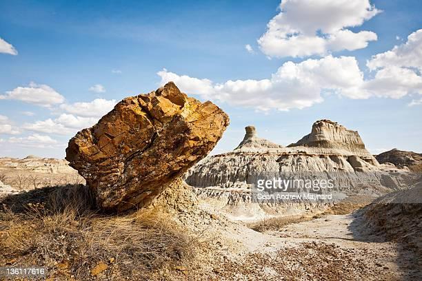 Leaning Rock at Dinosaur Provincial Park