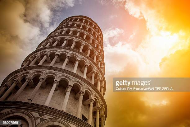 Leaning Tower of Pisa and clouds, Pisa, Tuscany, Italy