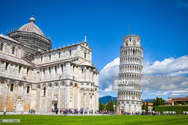 Leaning Tower of Pisa and Piazza del Miraccoli