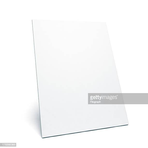 Leaning white poster with space for your message