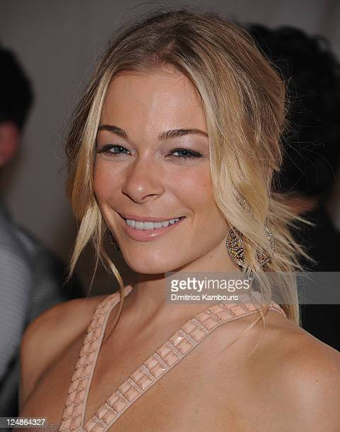 LeAnn Rhimes attends the Herve Leger by Max Azria Spring 2012 fashion show during Mercedes-Benz Fashion Week at The Theater at Lincoln Center on...