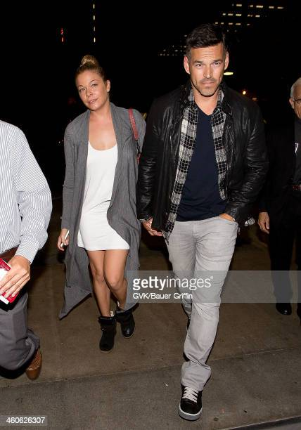 LeAnn Rimes and and Eddie Cibrian are seen at Los Angeles International Airport on September 08 2013 in Los Angeles California