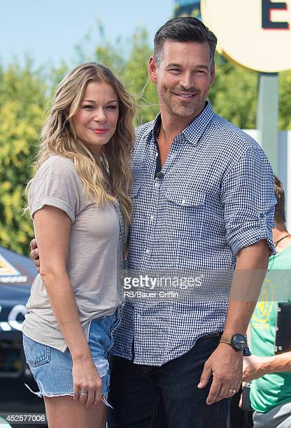 LeAnn Rimes and Eddie Cibrian are seen at 'Extra' on July 23 2014 in Los Angeles California