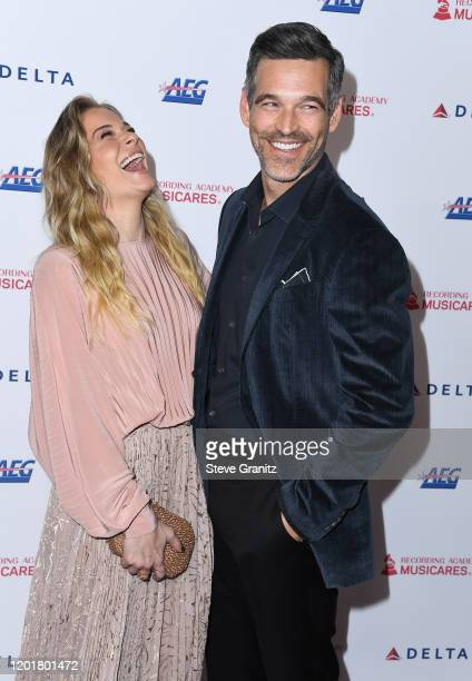 LeAnn Rimes and Eddie Cibrian arrives at the 2020 MusiCares Person Of The Year Honoring Aerosmith at West Hall At Los Angeles Convention Center on...