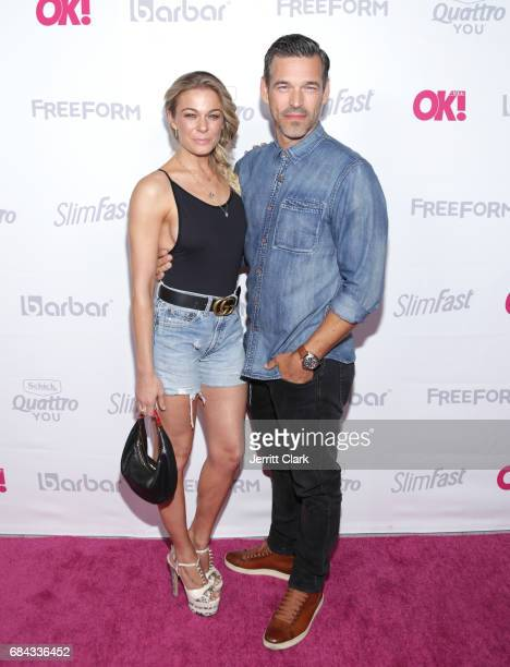 LeAnn Rimes and Eddie Cibrian attend the OK Magazine's Summer KickOff party at W Hollywood on May 17 2017 in Hollywood California