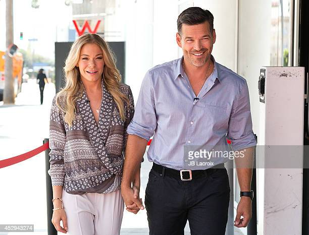 LeAnn Rimes and Eddie Cibrian visit Hollywood Today Live Studio on July 30 2014 in Hollywood California