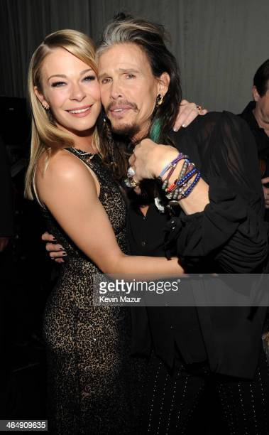 LeAnn Rimes and Steven Tyler attend 2014 MusiCares Person Of The Year Honoring Carole King at Los Angeles Convention Center on January 24 2014 in Los...