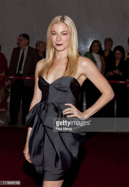 LeAnn Rimes arrives at the 17th Annual Kennedy Center Spring Gala at the Hall of Nations inside the John F Kennedy Center For The Performing Arts on...