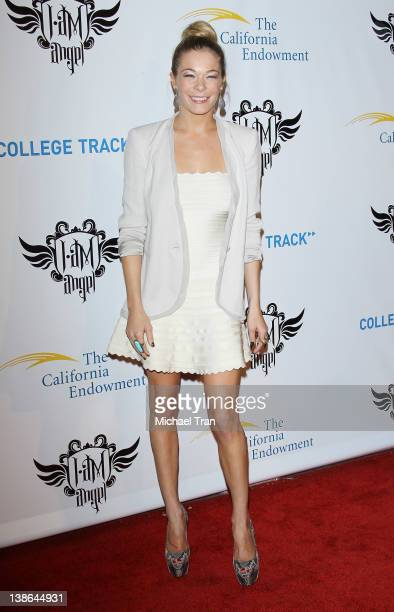 LeAnn Rimes arrives at the 1st Annual 'Trans4mation Experience' at The Hollywood Palladium on February 9 2012 in Los Angeles California