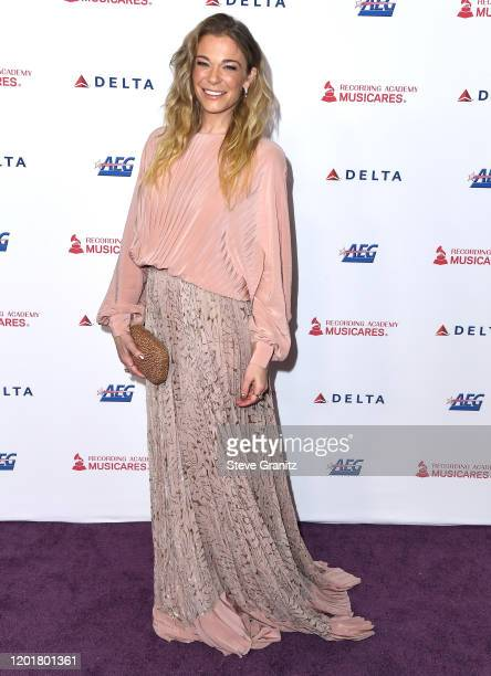 LeAnn Rimes arrives at the 2020 MusiCares Person Of The Year Honoring Aerosmith at West Hall At Los Angeles Convention Center on January 24, 2020 in...
