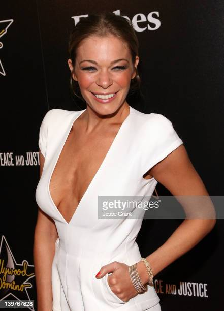 LeAnn Rimes arrives at the 5th Annual Hollywood Domino Gala at Sunset Tower Hotel on February 23 2012 in West Hollywood California