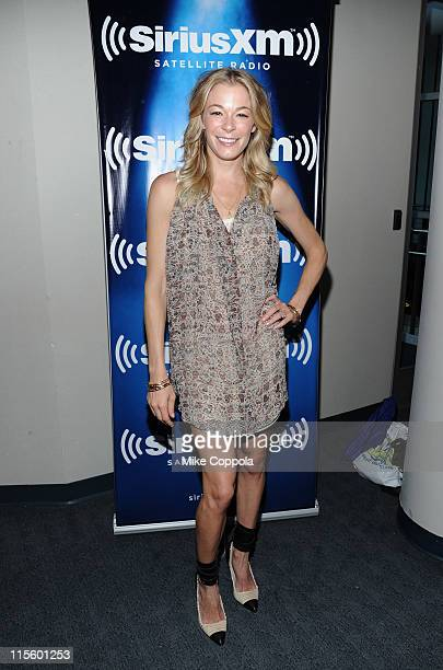 LeAnn Rimes attends SiriusXM's The Highway Super Fan Concert Series at SiriusXM Studio on June 8 2011 in Nashville Tennessee