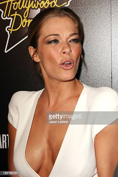 LeAnn Rimes attends the 5th annual Hollywood Domino Gala benefiting Artists For Peace And Justice at Sunset Tower on February 23 2012 in West...