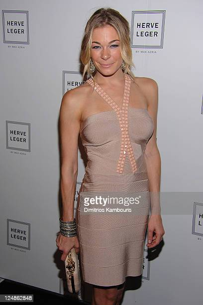 LeAnn Rimes attends the Herve Leger by Max Azria Spring 2012 fashion show during Mercedes-Benz Fashion Week at The Theater at Lincoln Center on...