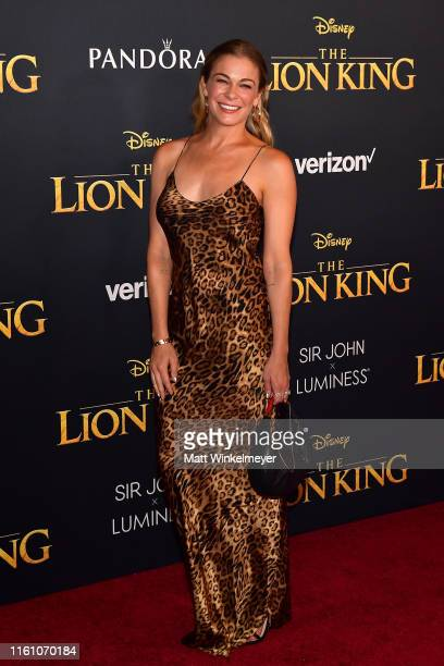 LeAnn Rimes attends the premiere of Disney's The Lion King at Dolby Theatre on July 09 2019 in Hollywood California