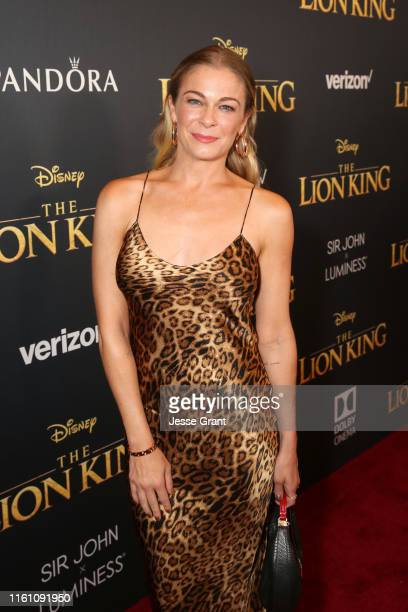LeAnn Rimes attends the World Premiere of Disney's THE LION KING at the Dolby Theatre on July 09 2019 in Hollywood California