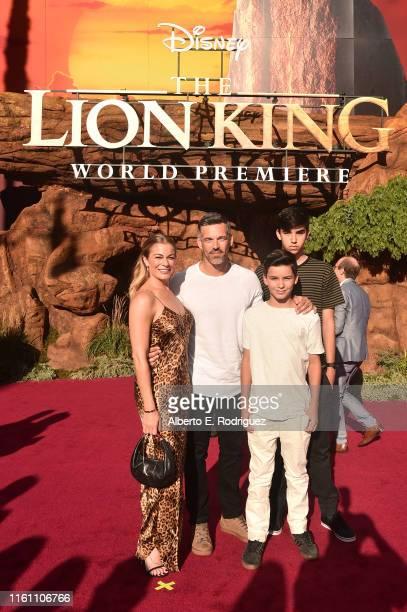 LeAnn Rimes Eddie Cibrian Jake Austin Cibrian and Mason Edward Cibrian attend the World Premiere of Disney's THE LION KING at the Dolby Theatre on...