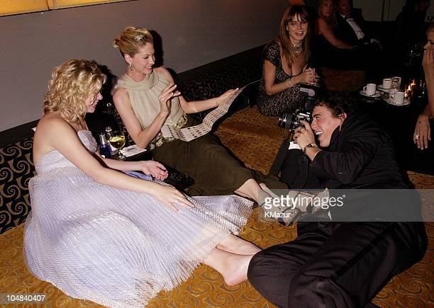 LeAnn Rimes Jenna Elfman and Andrew Keegan during The 73rd Annual Academy Awards Elton John Ninth Annual Oscar Party to benefit the Elton John Aids...