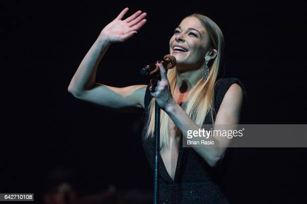 LeAnn Rimes performs at the London Palladium on February 17 2017 in London England