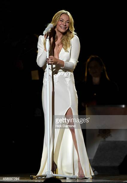 LeAnn Rimes performs during the CMA 2014 Country Christmas on November 7 2014 in Nashville Tennessee