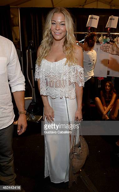 LeAnn Rimes seen around MercedesBenz Fashion Week Swim 2015 at The Raleigh on July 20 2014 in Miami Beach Florida