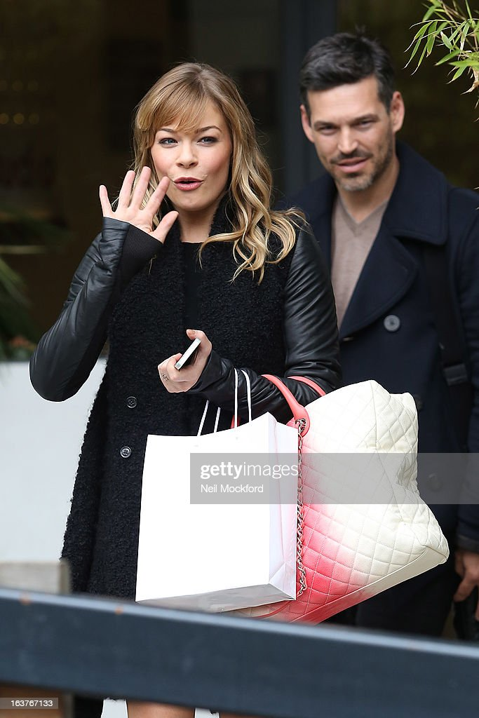 LeAnn Rimes seen at the ITV Studios on March 15, 2013 in London, England.