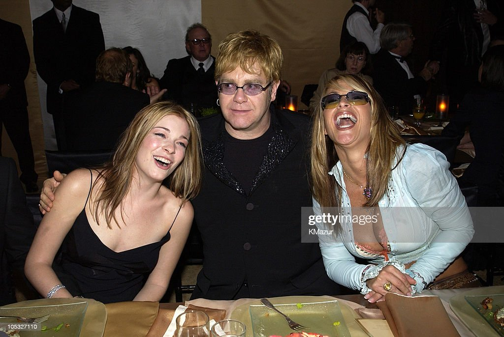 LeAnn Rimes, Sir Elton John and Anastacia during The 10th Annual Elton John AIDS Foundation InStyle Party - Inside at Moomba Restaurant in Hollywood, California, United States.