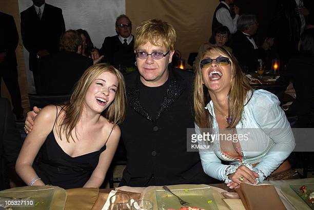 LeAnn Rimes Sir Elton John and Anastacia during The 10th Annual Elton John AIDS Foundation InStyle Party Inside at Moomba Restaurant in Hollywood...