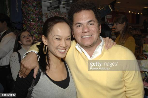 Leanna Silverstein and Romero Britto attend Candy Lover Dylan's Candy Bar hosts VIP opening event for Romero Britto at Dylan's Candy Bar on February...