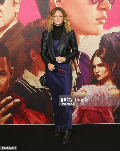 Leanna Walsman arrives ahead of the Baby Driver Australian Premiere at Event Cinemas George Street on July 12 2017 in Sydney Australia