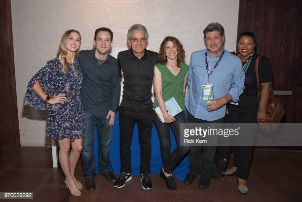 Leanne Aguilera Ben Savage Michael Jacobs Nell Scovell William Bickley and Kellie Shanygne Williams attend TGIHulu presented by Hulu during the ATX...