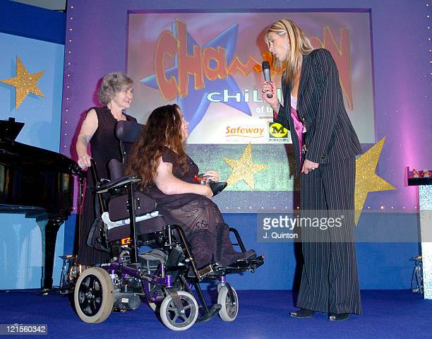 Leanne Beetham and Sharron Davies during Champion Children of the Year 2004 at The Millennium Club in London Great Britain