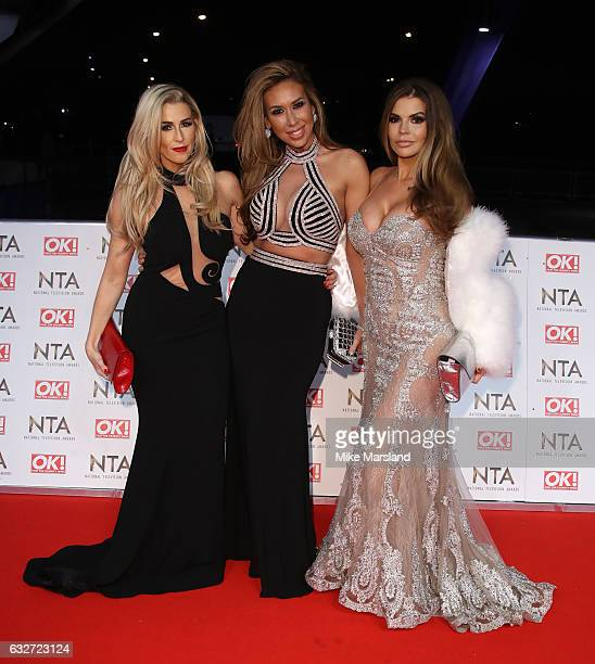 Leanne Brown Ampika Pickston and Tanya Bardsley attend the National Television Awards at The O2 Arena on January 25 2017 in London England