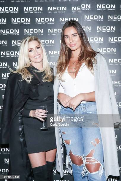 Leanne Brown and Jessica Shears attending the launch of Neon health food kitchen on March 15 2018 in Wilmslow England