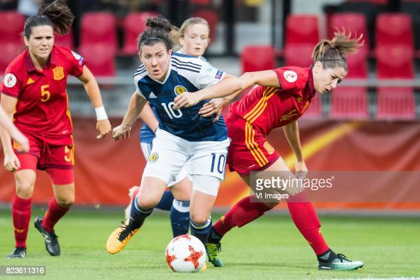 Leanne Crichton of Scotland women Vicky Losada of Spain women during the UEFA WEURO 2017 Group D group stage match between Scotland and Spain at The...