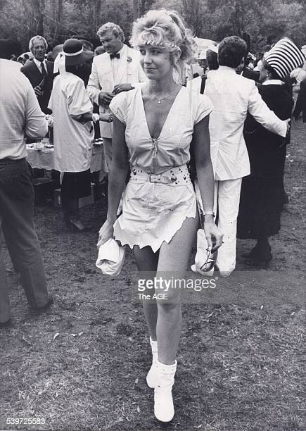 Leanne Edelsten at the 1985 Melbourne Cup 5 November 1985 THE AGE ARCHIVES