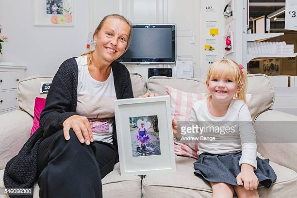 Leanne Gorton stands proudly beside her winning photograph that will appear in the IKEA Gateshead store until July, on June 24, 2016 in Gateshead,...